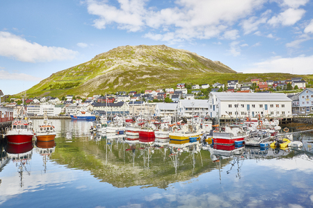 Honningsvag village Nordkapp Norway Stock Photo