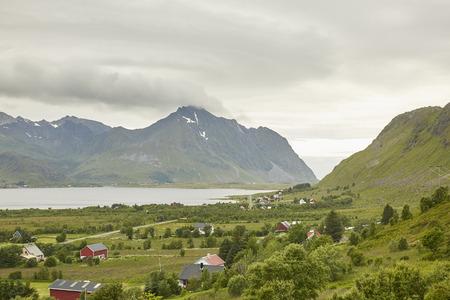 Torsvshalsen Lofoten Landschaft Lizenzfreie Bilder