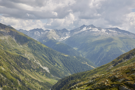 Grimsel pass switzerland, sunny summer day in the mountains Reklamní fotografie