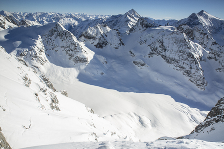Winter Alpine Landscapes, Swiss Mountain from Titlis