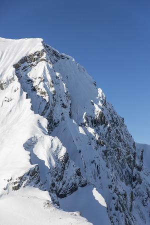 Winter Swiss Alps at Adelboden, Engstligenalp, Bernese Oberland