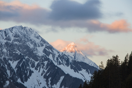 Sunrise over Gastlosen at Jaun Friborg Swiss Alps
