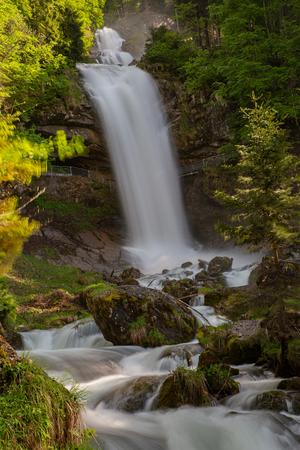 Giessbach Wasserfall Berner Oberland, Schweiz Standard-Bild