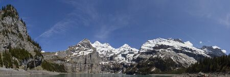 Oeschinen Lake Switzerland, Bernese Oberland, Kandersteg