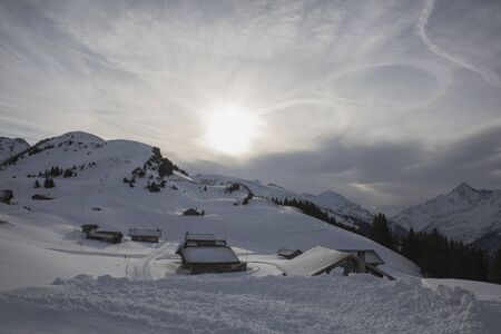 Hasliberg mountains in winter snow