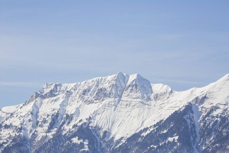 Hasliberg Mountains in winter with snow Stock Photo - 141290809