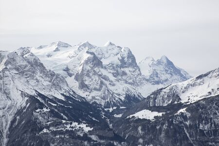 Bernese Mountains with snow Stock Photo - 141291124