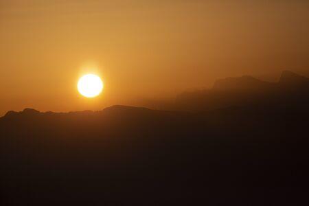 Sunrise over Bernese mountains in Switzerland Stock Photo - 144037499