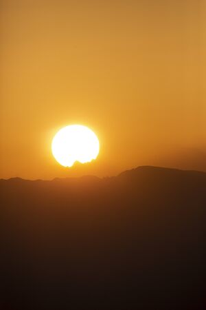 Sunrise over Bernese mountains in Switzerland