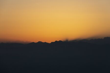 Sunrise over Bernese mountains in Switzerland Stock Photo - 144018099