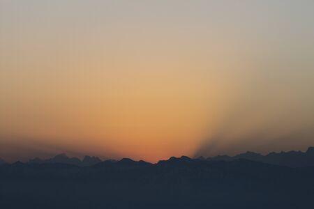 Sunrise over Bernese mountains in Switzerland Stock Photo - 144018101