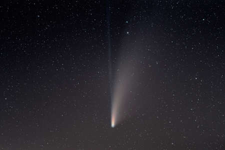 Comet C2020 F3 Neowise in Emmental Switzerland at 19th July 2020 Stock Photo