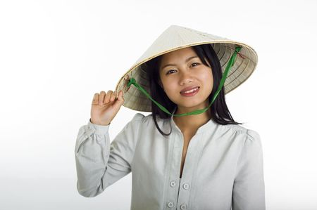 asian girl vietnamese style Stock Photo