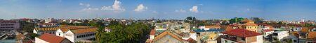 phnom penh: panorama picture of phnom penh in cambodia Stock Photo