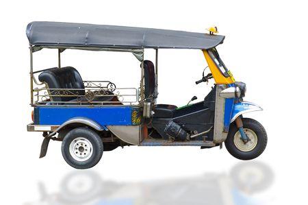 tuk tuk taxi in thailand, isolated on white