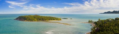 koh: view on a small island at the northern chaweng beach in koh samui, thailand Stock Photo