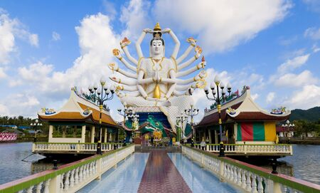 statue of shiva on samui island in thailand photo