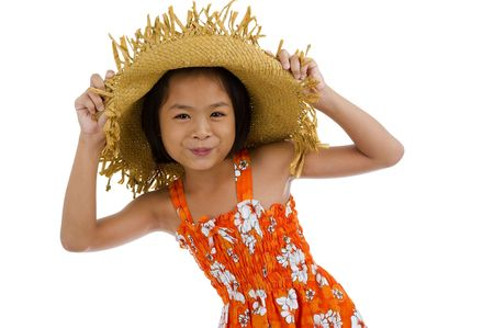 teeny: beautiful asian teeny, isolated on white background