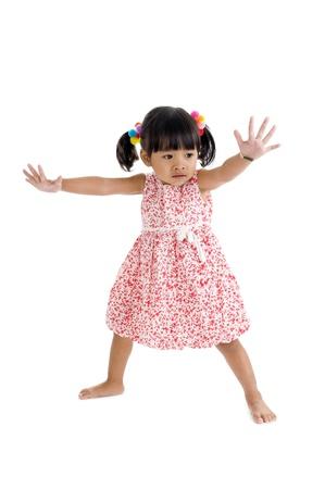 cute llittle girl isolated on white background Stock Photo - 8406501