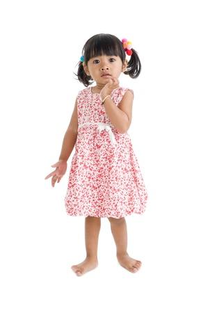cute llittle girl isolated on white background