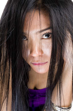 close up of a beautiful asian woman photo