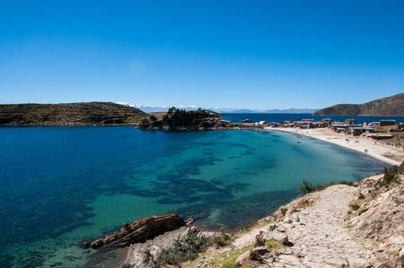 Beach on Isla del Sol, Bolivia photo
