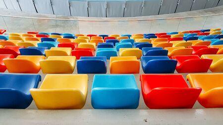 multicolored seats,multicolored seats,Colorful seating