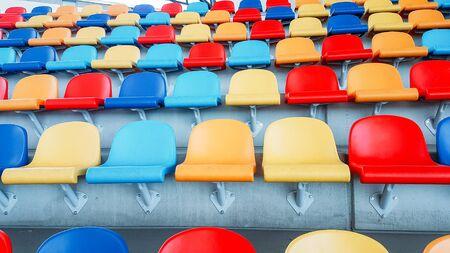 multicolored seats, multicolored seats, Colorful seating