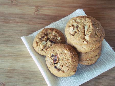 servilleta: Cookies on napkin