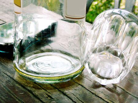 empty: Empty battle and glass Stock Photo