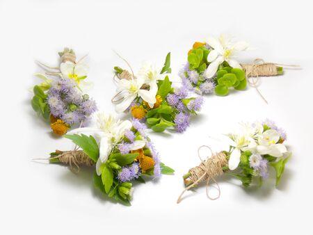 boutonniere: ?Beautiful boutonniere flower wedding background Stock Photo