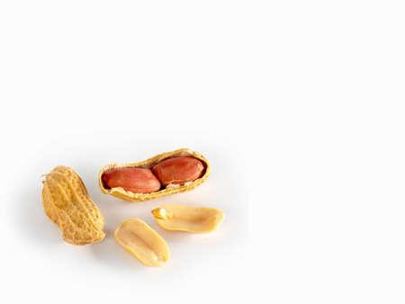 ground nut: Ground nut on  white background Stock Photo
