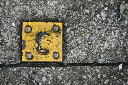 durability: iron with rust traces, symbol of decay, damage, transience Stock Photo