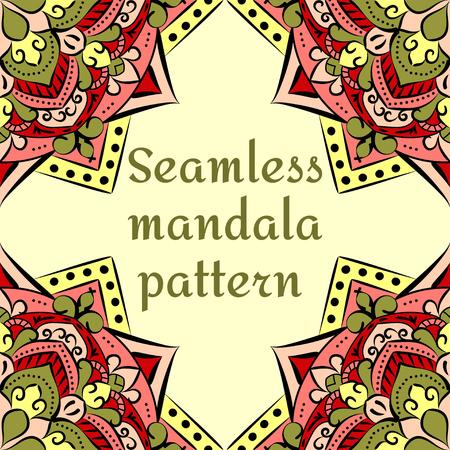 seamless pattern on a yellow background