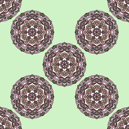 reiteration: Seamless pattern on a green background