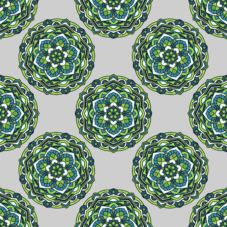 reiteration: Seamless pattern on a gray background Illustration