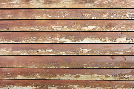Background of smooth wooden boards. Rough texture of the old wooden surface.