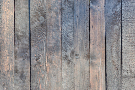 Old wooden fence with faded wood background.