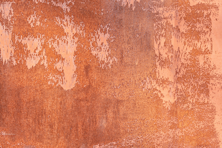 Old rusty sheet metal. Texture closeup. Unusual abstract background for the layout.