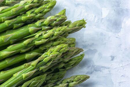 Young green asparagus closeup.