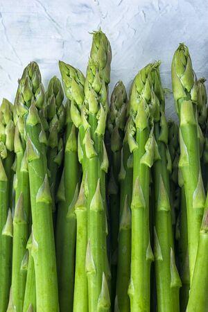 Micro greens, young asparagus closeup.