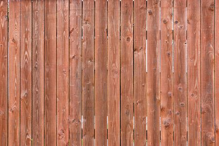 Wooden brown boards. Fragment of a wooden vertical fence. Background for the site and layouts.