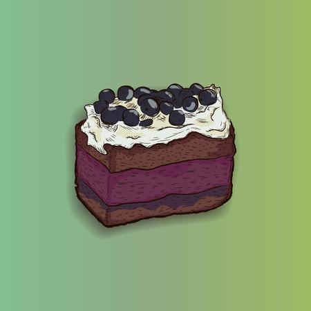 blueberry pie: blueberry cake