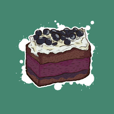 souffle: blueberry cake