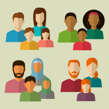 brother: Family icons set. Vector illustration Illustration