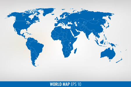 Highly detailed world map vector illustration ilustraciones image of a vector world map eps 10 gumiabroncs Gallery