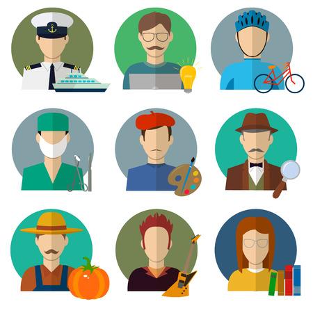 professions: Profesiones del vector planas Iconos.