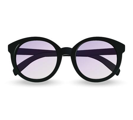 wayfarer: Sunglasses realistic icon. Summer vector illustration. Isolated