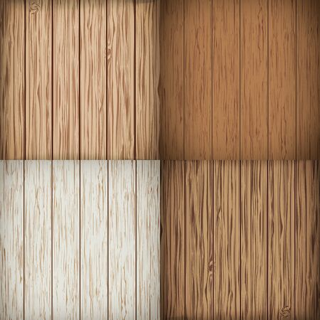 boarded: Wooden background set. Wood background. Vector illustration