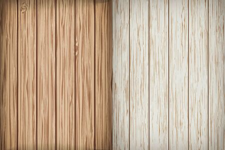 Two realistic wooden background. Wood background. Vector illustration Illustration